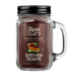 Beamer Candle Co. Super High Pecan Pie 12oz Glass Mason Jar
