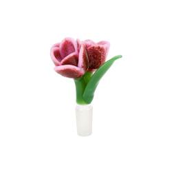 Empire Glassworks Pink Tulip Herb Bowl