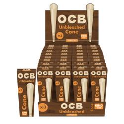 King Size OCB Virgin Unbleached Cones
