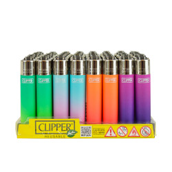Metallic Gradient Clipper Lighters