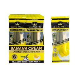 King Palm Mini Pre-Roll Pouch Display - Banana Cream