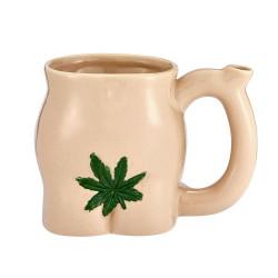 Premium Roast & Toast Ceramic Mug with Pipe - Butt