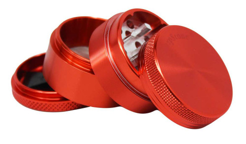 "SharpStone 4-Piece Grinder Pollinator Colored 2.2"" - Red"