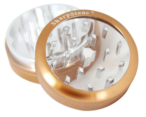 """SharpStone 2-Piece Grinder Glass Top Colored 2.5"""" - Brown"""