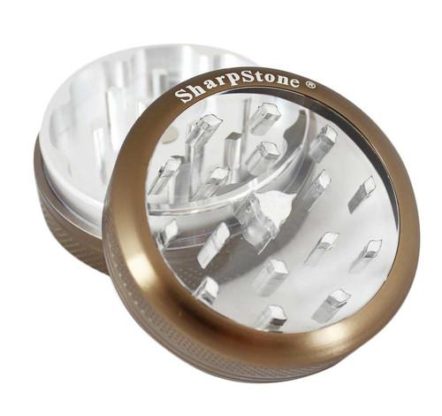 "SharpStone 2-Piece Grinder Glass Top Colored 2.5"" - Bronze"