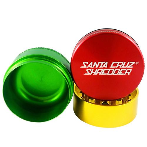 """Santa Cruz Shredder 3-Piece Grinder Medium 2.2"""" - Rasta"""
