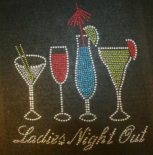 Rhinestone Ladies Night Out Drinks
