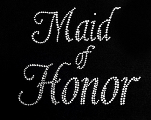 Rhinestone Maid Of Honor