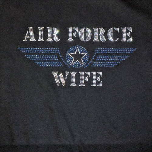 Rhinestone Air Force Wife