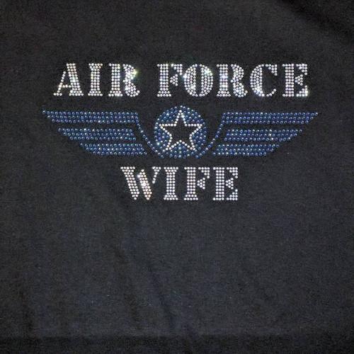 Rhinestone Air Force Wife