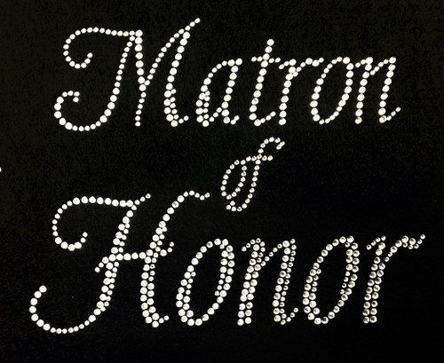 Rhinestone Matron Of Honor