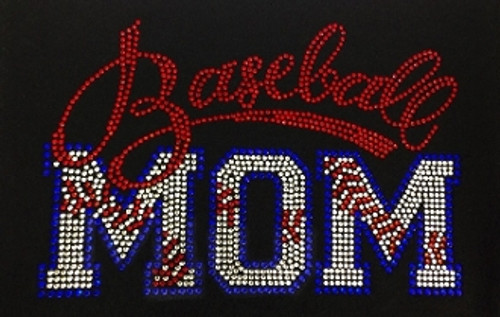 Rhinestone Baseball Mom Stitches