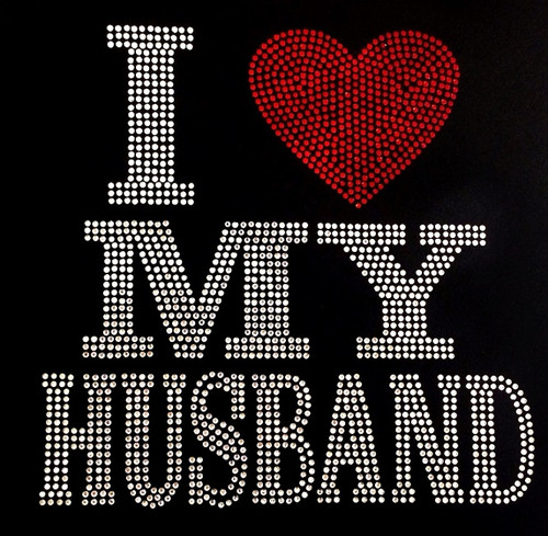 Rhinestone I Love My Husband