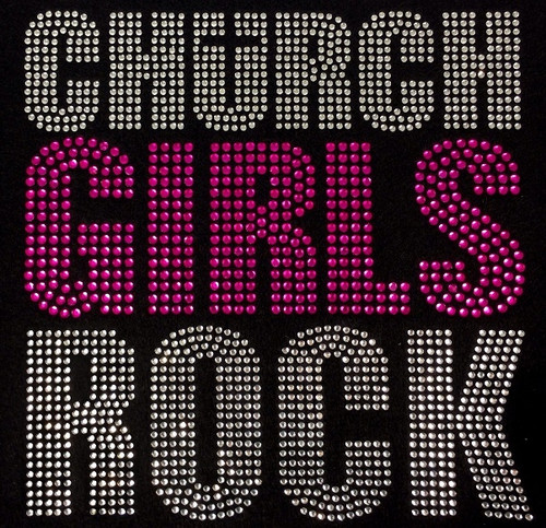 Rhinestone Church Girls Rock Pink