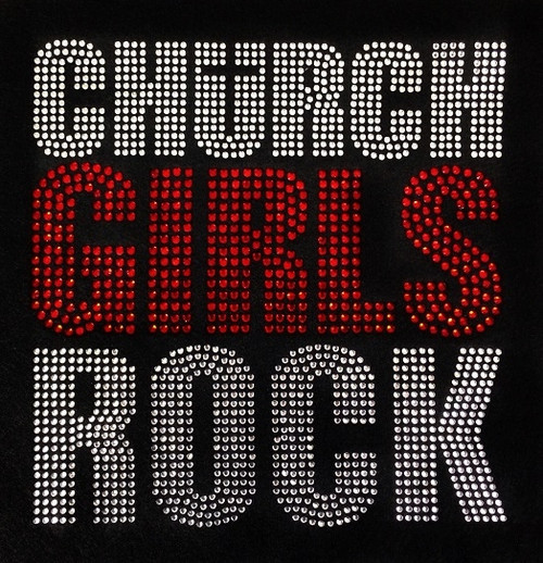 Rhinestone Church Girls Rock Red