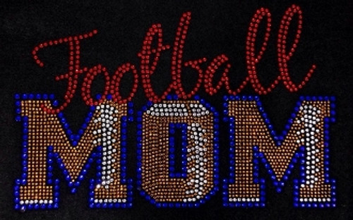 Rhinestone Football Mom Stitches