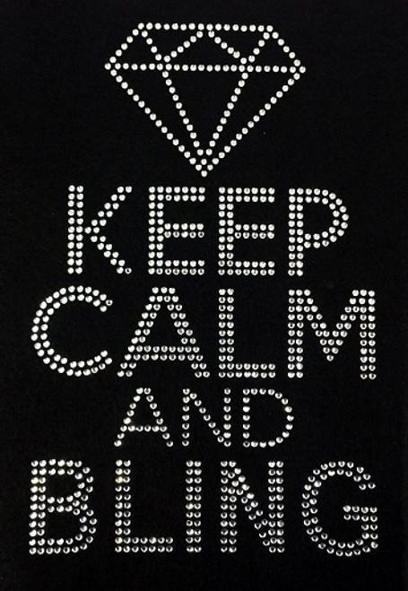 Rhinestone Keep Calm and Bling with Diamond