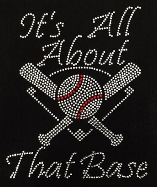Rhinestone All About That Base Baseballbat and mound