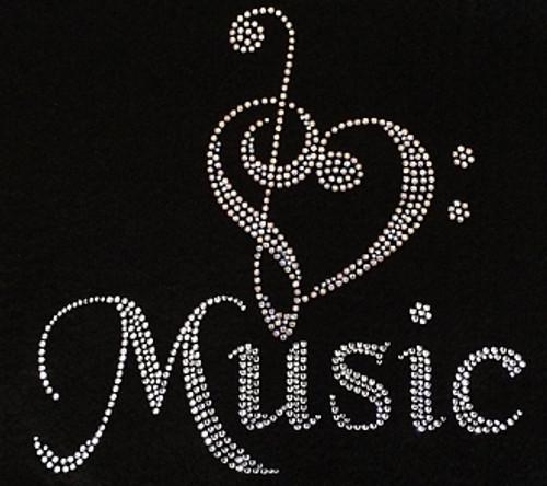 Rhinestone Symbol of Music