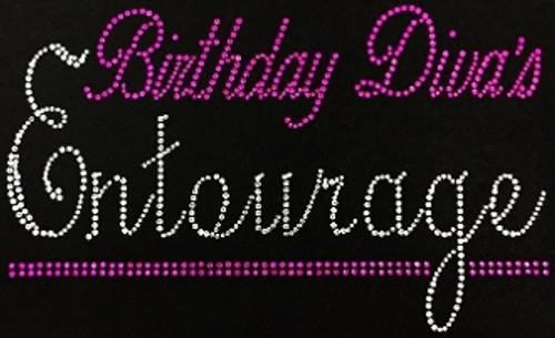 Rhinestone Birthday Divas Entourage Pink