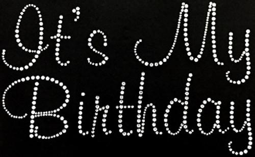 Rhinestone It's My Birthday Clear