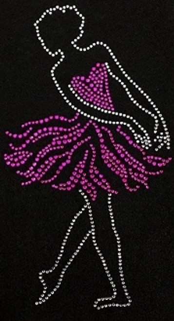 Rhinestone Ballet Dancer Pink Dress