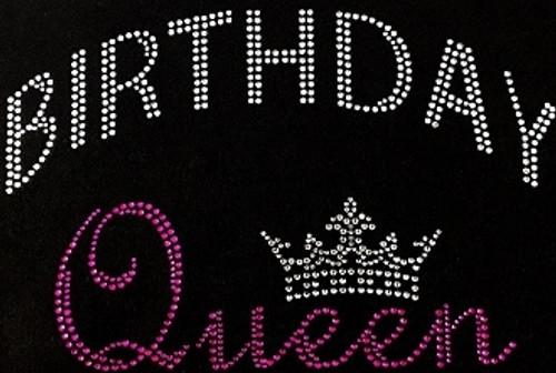 Rhinestone Birthday Queen Crown Pink