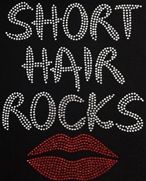 Rhinestone Short Hair Rocks