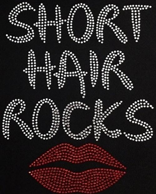 Rhinestone Short Hair Rocks