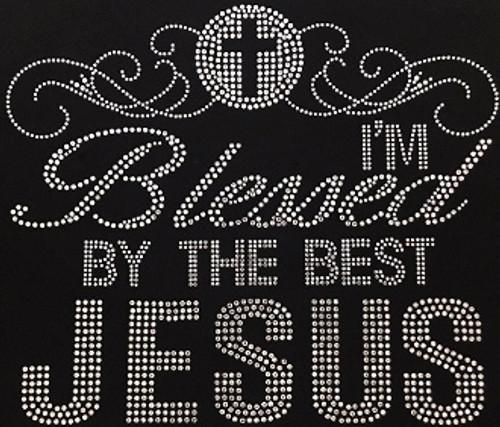 Rhinestone Blessed By The BestJesus