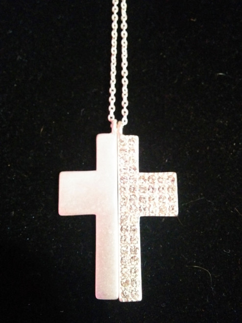 2 piece Cross with Rhinestones