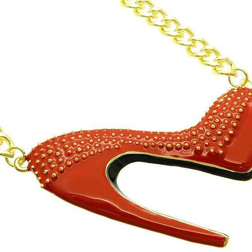 Shoe necklaces on chains