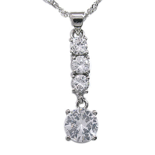 Stainless Steel 4 Crystal Chain SS Link Chain