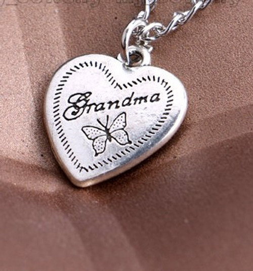 Stainless Steel Small Grandma and Butterfly SS Link Chain