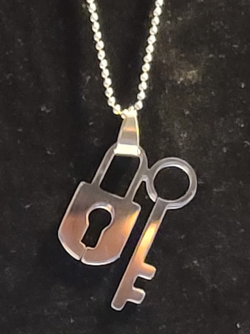 Stainless Steel Lock and Key SS ball Chain