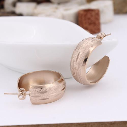 Rose Gold Small Hoop Earrings