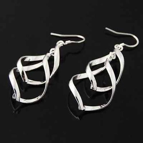 """3"""" Stainless Steel Curl Earrings"""