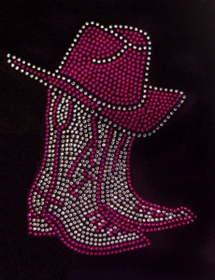 Cowgirl Boots and Hat Pink