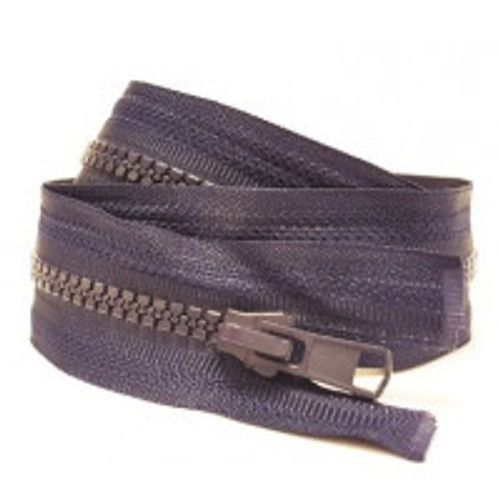 "24"" Chunky Open Ended Zip - Navy"