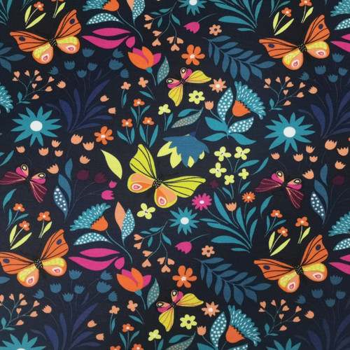 Navy Butterfly Bliss French Terry