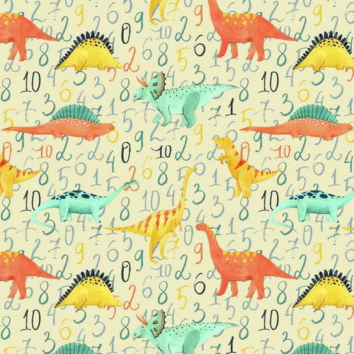 Counting With Dinosaurs Cotton