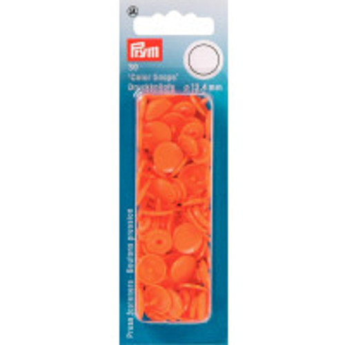 Prym Orange Non-sew Colour Snaps - 12.4mm
