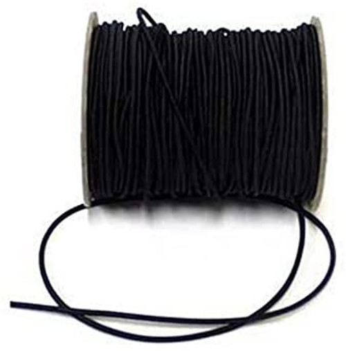 2.5mm Cord Elastic - Black