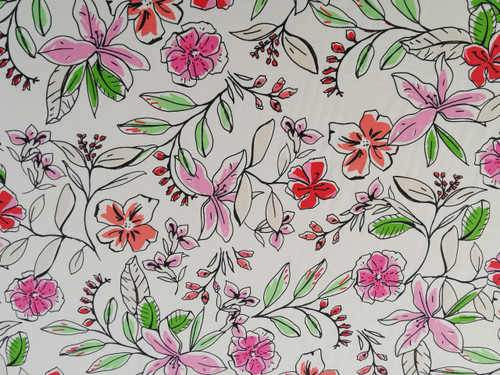 Filled Floral Viscose
