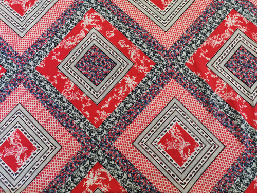 Red Patchwork Viscose