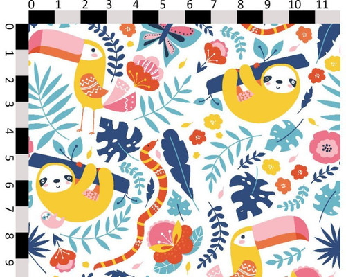 Tropical Friends Cotton