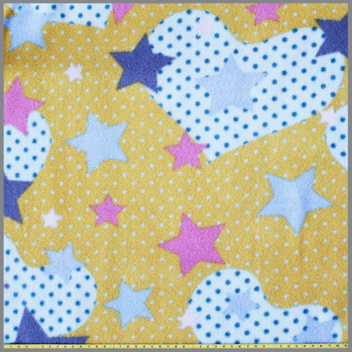 Love the stars - Yellow Fleece