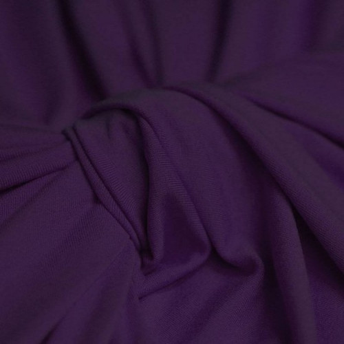 Dark Purple Viscose Jersey