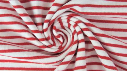 Yarn Dyed Red White Stripe Jersey