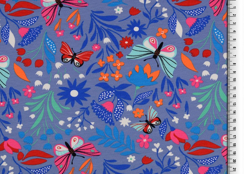 Violet Butterfly Bliss French Terry